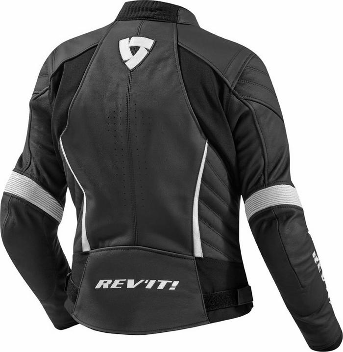 Rev'it Xena Ladies leather jacket black white