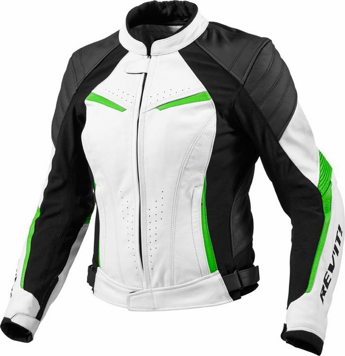 Rev'it Xena Ladies leather jacket white green