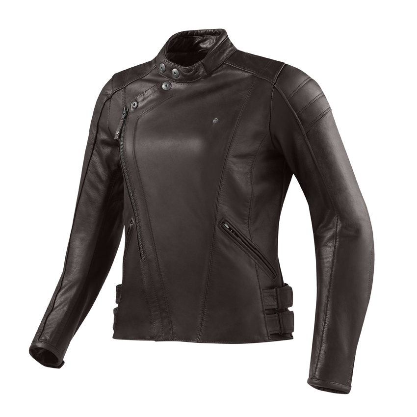 Giacca moto donna pelle Rev'it Bellecour Ladies Marrone