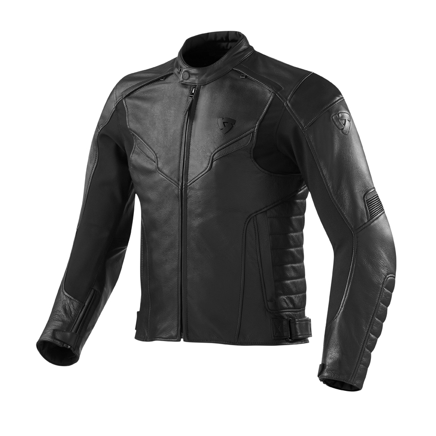 Giacca moto pelle Rev'it Stream Nero