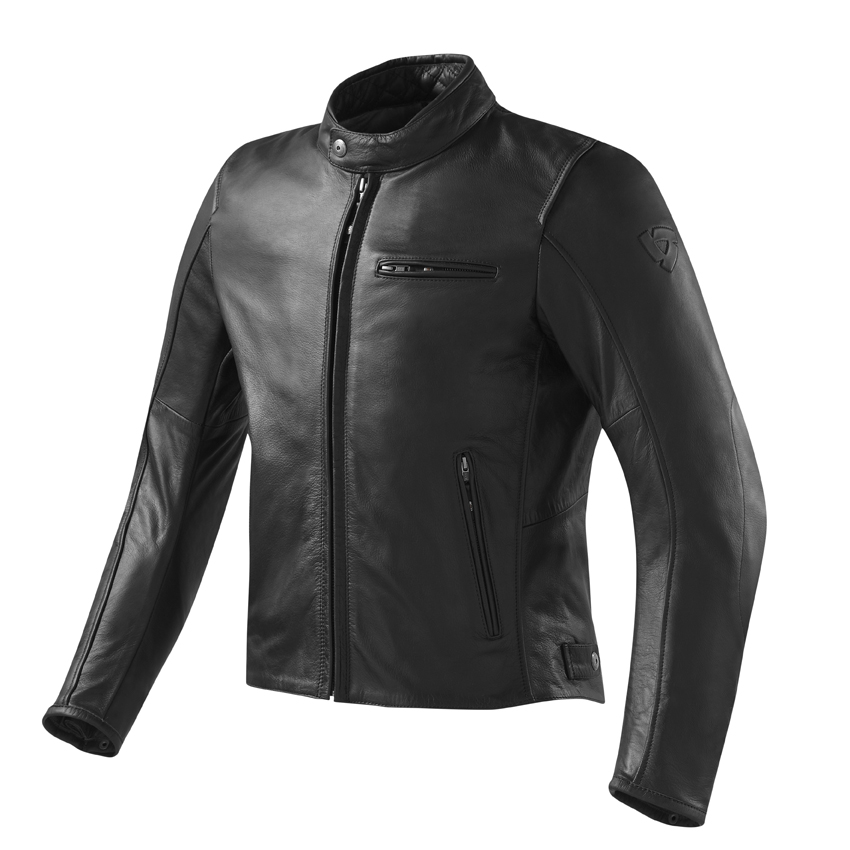 Giacca moto pelle Rev'it Flastbush Vintage Nero