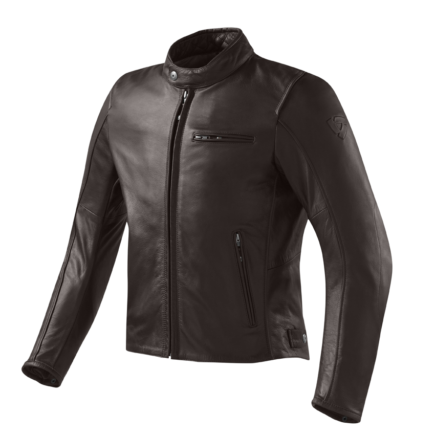 Giacca moto pelle Rev'it Flastbush Vintage Marrone