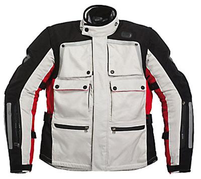 REV'IT! Cayenne Pro Jacket - Col. Light Grey/Red