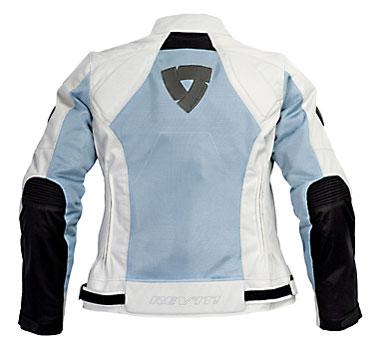 Giacca moto donna Rev'it Air Ladies argento - blu chiaro