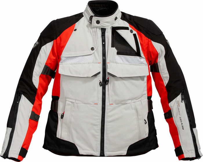 REV'IT! Defender GTX Jacket - Col. Silver/Red