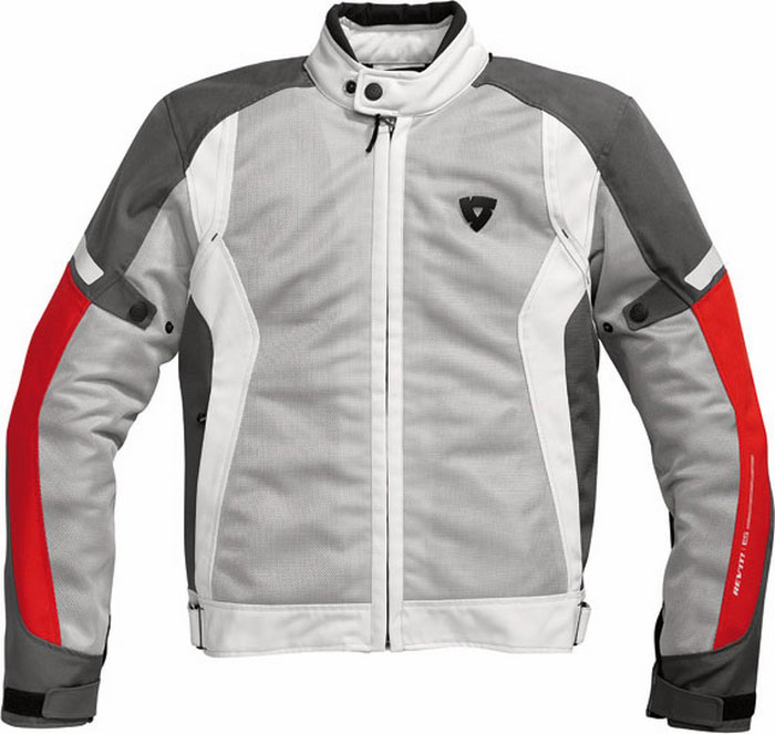 Rev'it airwave summer motorcycle jacket silver-rosso