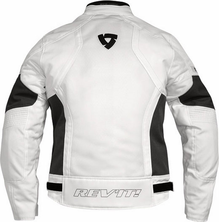 Giacca moto donna estiva Rev'it Airwave Ladies bianco-antracite