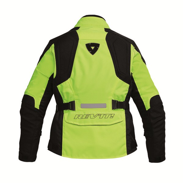 Woman motorcycle jacket Rev'it Indigo HV Neon Yellow Black