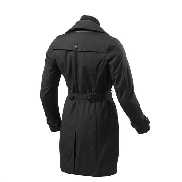 Woman black motorcycle jacket Rev'it Camden