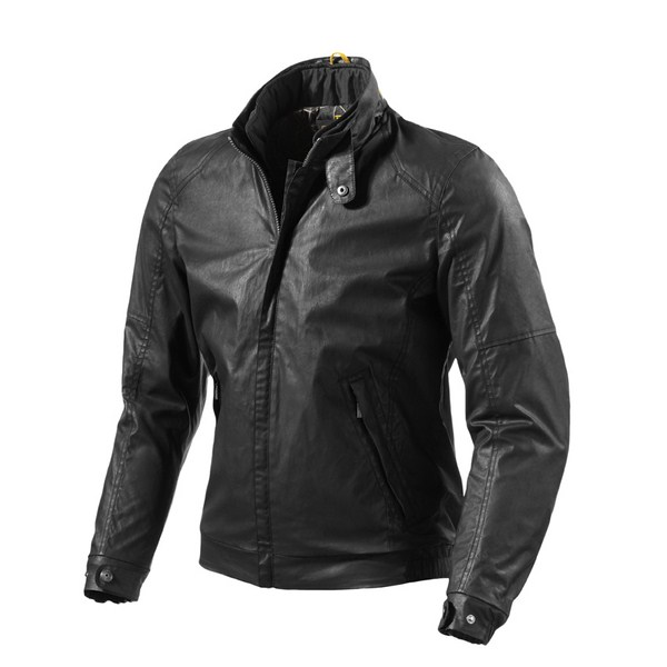 Rialto black motorcycle jacket Rev'it