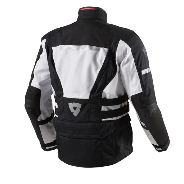 Motorcycle jacket Rev'it Sand 2 Black Silver