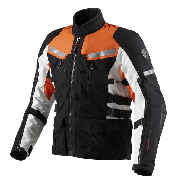Motorcycle jacket Rev'it Sand 2 Black Orange
