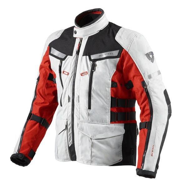 Motorcycle jacket Rev'it Sand 2 Silver Red