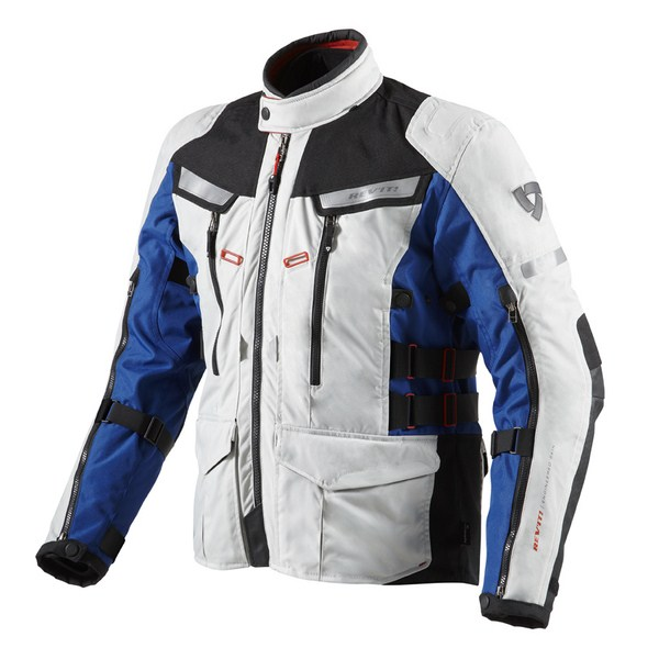 Motorcycle jacket Rev'it Sand 2 Silver Blue