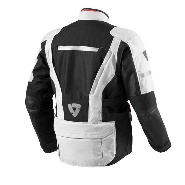Motorcycle jacket Rev'it Sand 2 Silver Black