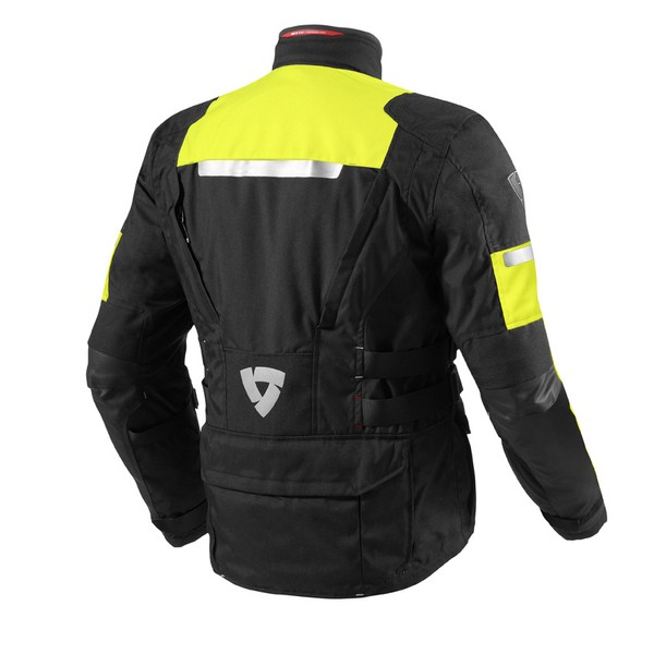 Motorcycle jacket Rev'it Sand 2 HV Black Neon Yellow