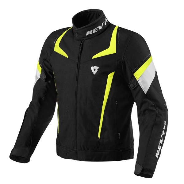 Giacca moto Rev'it Jupiter Nero Giallo Neon