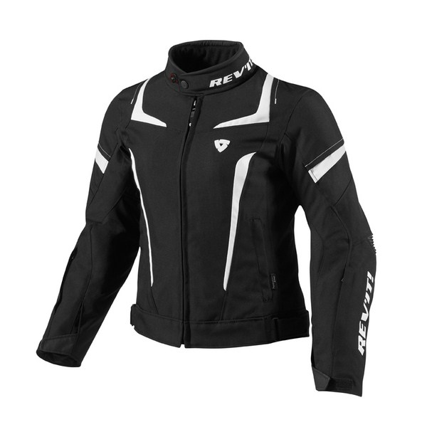 Jupiter woman motorcycle jacket Rev'it Black White