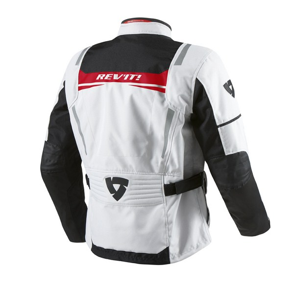 Motorcycle jacket Rev'it Nautilus Silver Red