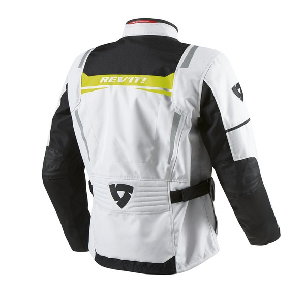 Motorcycle jacket Rev'it Nautilus Silver Yellow