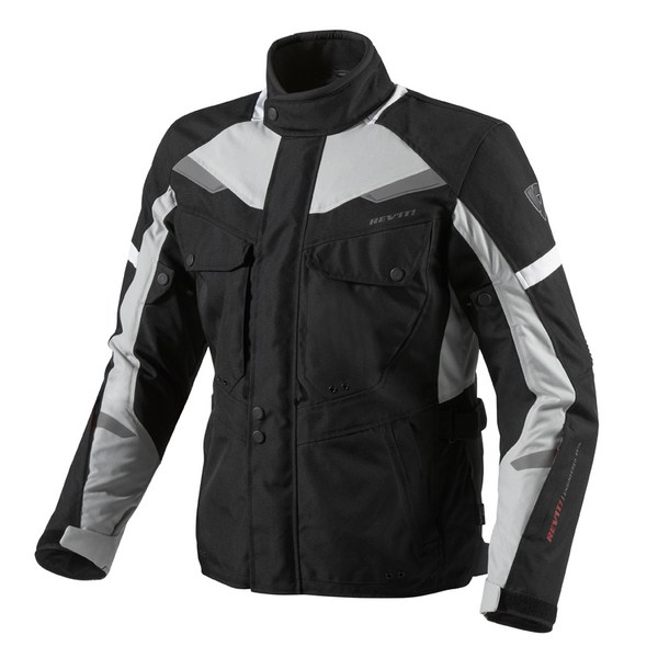 Motorcycle jacket Rev'it Safari Black Silver