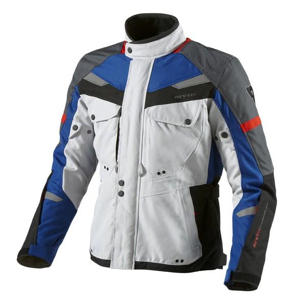 Giacca moto Rev'it Safari Argento Blu