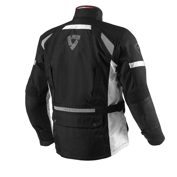 Motorcycle jacket Rev'it Outback Black Silver