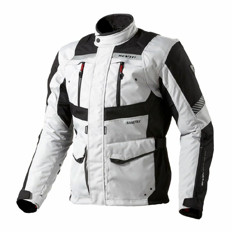 Motorcycle jacket Rev'it Neptune GTX Silver Black