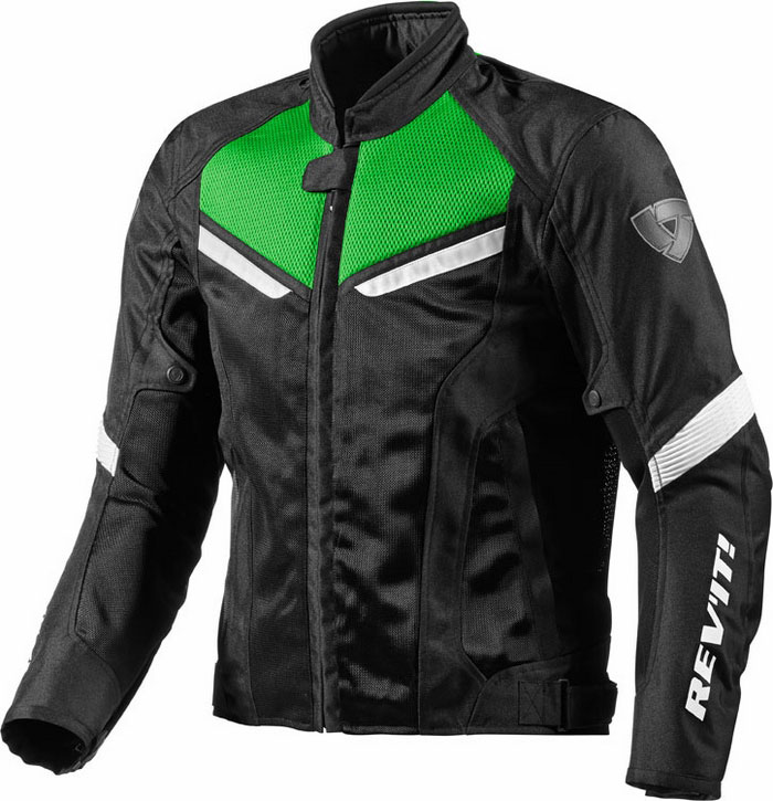 Motorcycle jacket Rev'It GT-R Black Green Air acid
