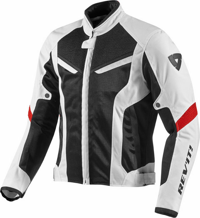 Motorcycle jacket Rev'It GT-R Air White Black