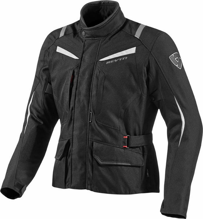 Rev'it Voltiac motorcycle jacket black silver