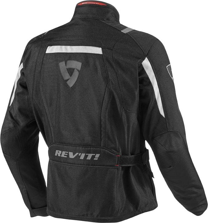 Giacca moto Rev'it Voltiac nero argento