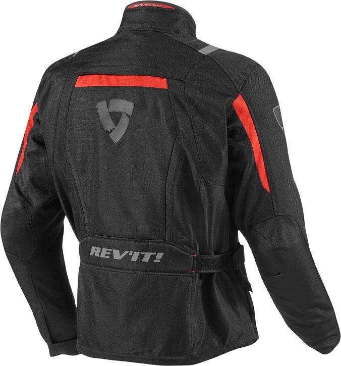 Rev'it Voltiac motorcycle jacket black red