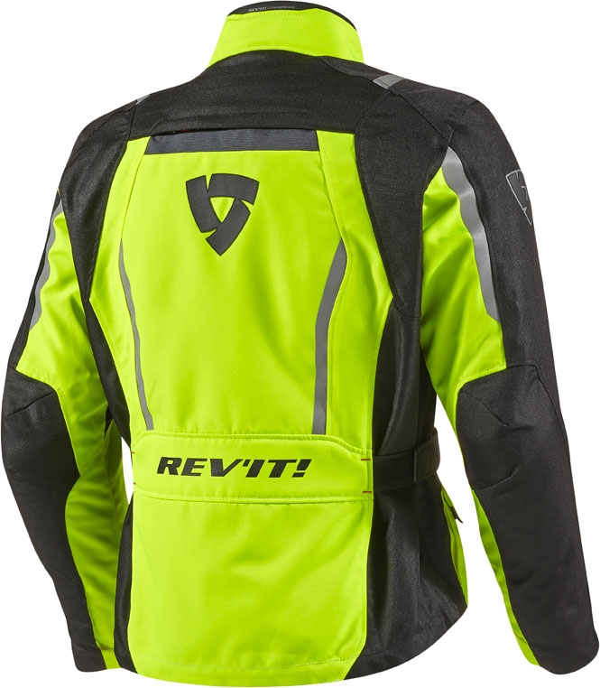 Rev'it Voltiac HV motorcycle jacket black yellow neon