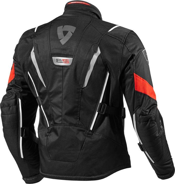 Rev'it Vapor motorcycle jacket black red