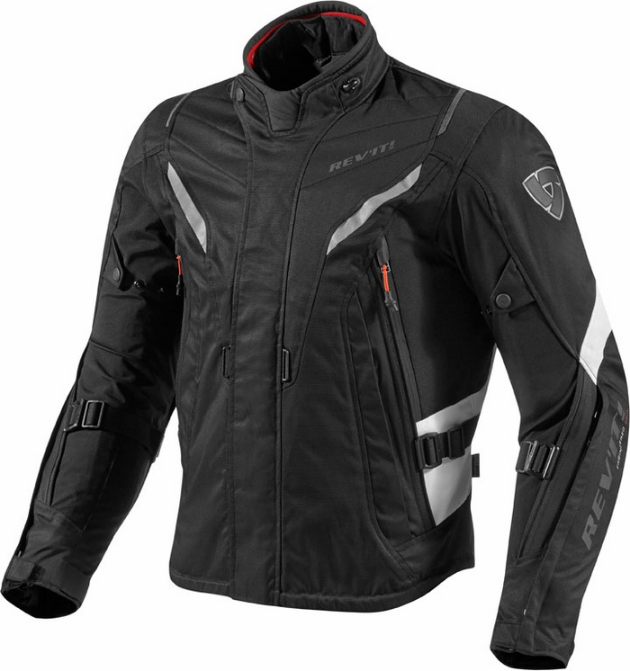 Rev'it Vapor motorcycle jacket black white