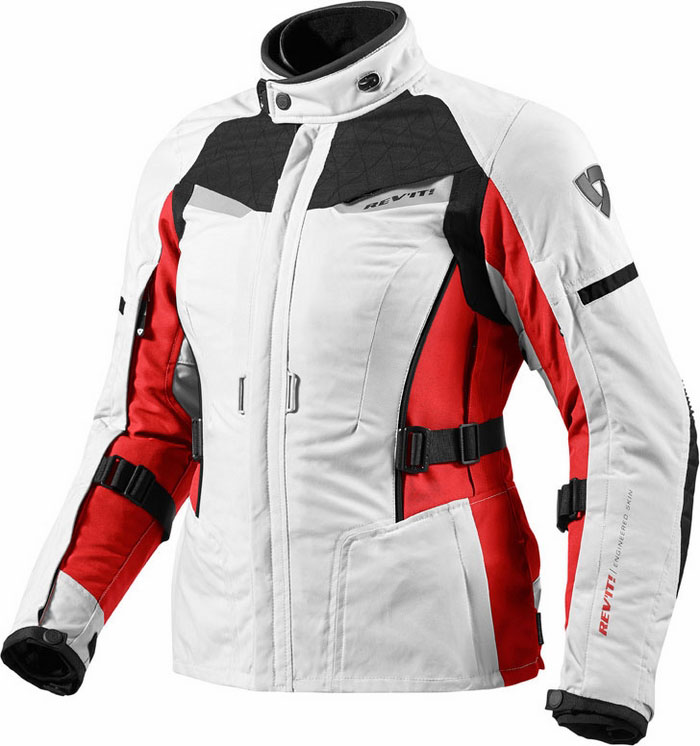 Giacca moto donna Rev'It Sand Ladies Argento Rosso