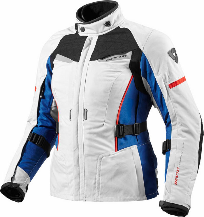 Woman motorcycle jacket Rev'It Sand Ladies Silver Blue