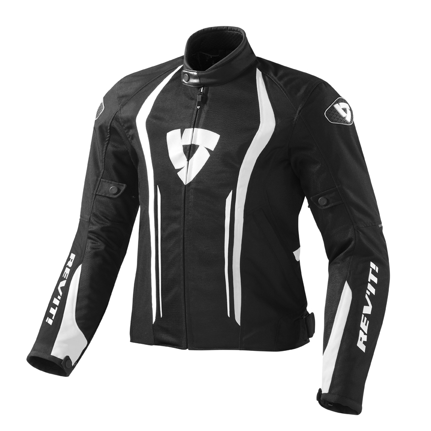 Giacca moto Rev'it Airforce Nero Bianco