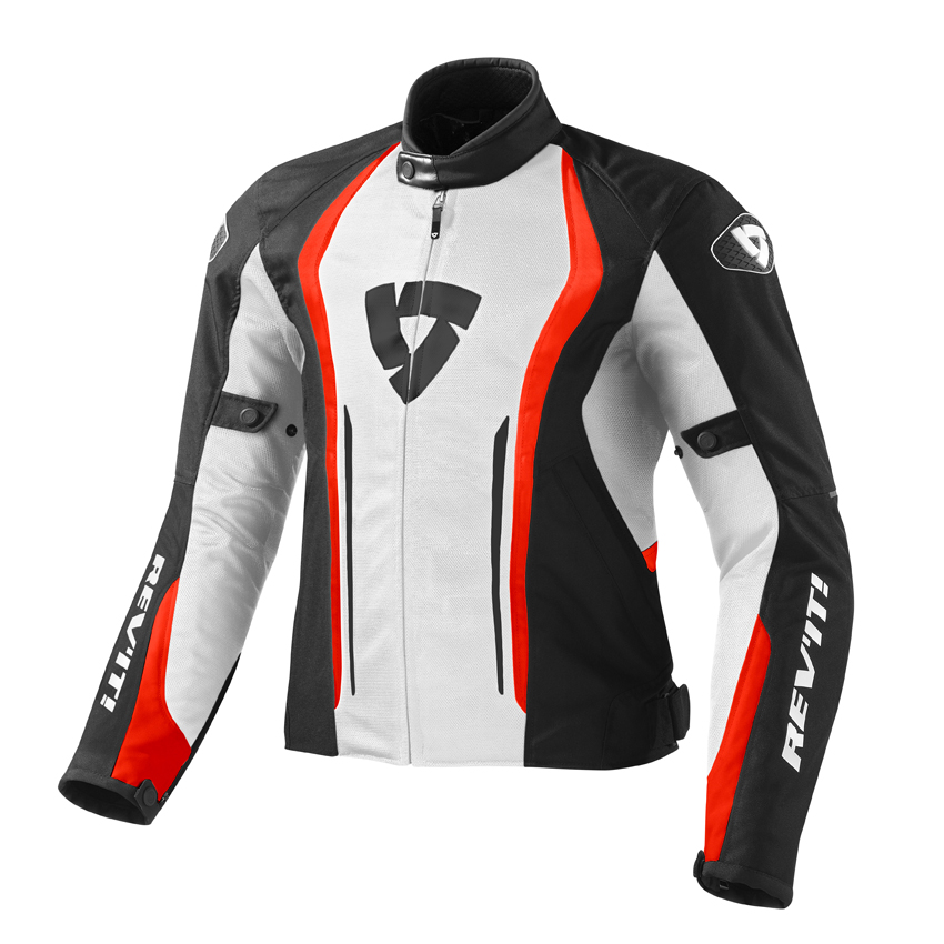 Giacca moto Rev'it Airforce Bianco Rosso