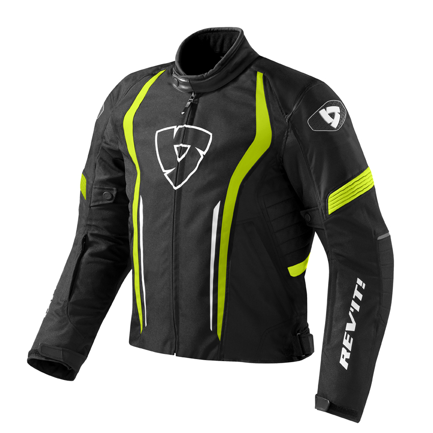 Giacca moto Rev'it Shield Nero Giallo neon