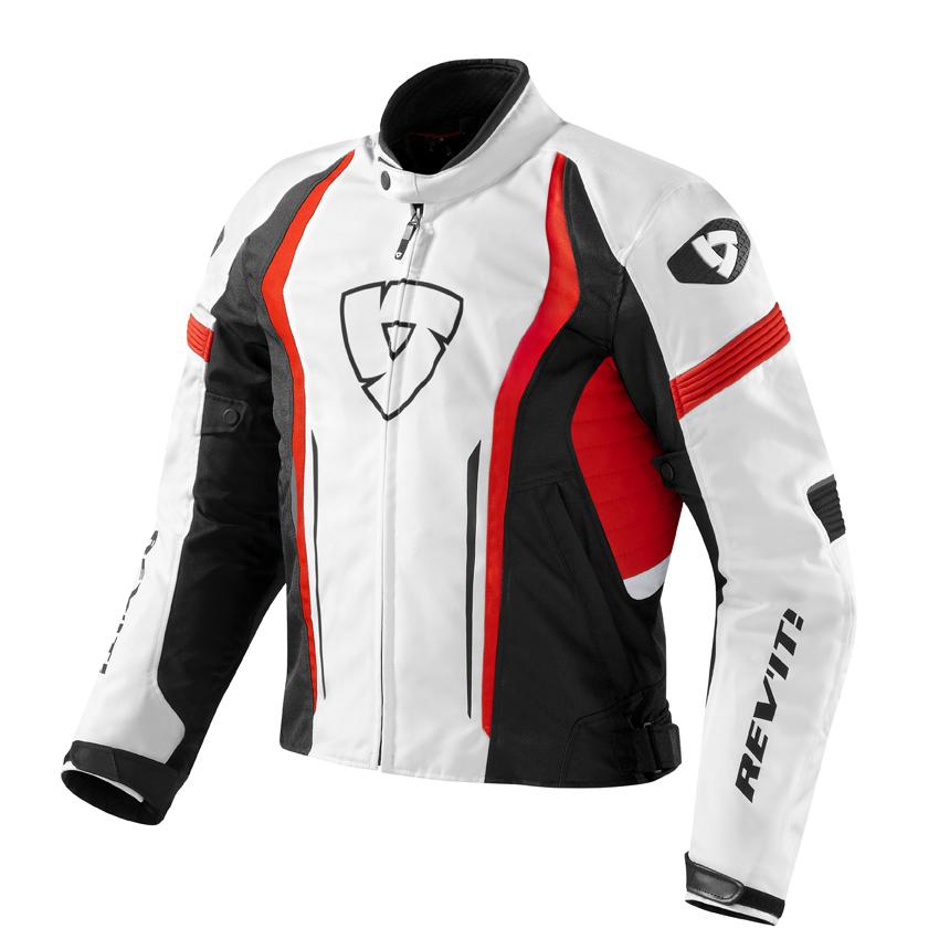 Giacca moto Rev'it Raceway Bianco Rosso