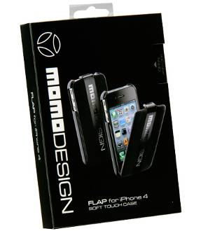 Custodia Momo Design Flap nera per Iphone 4