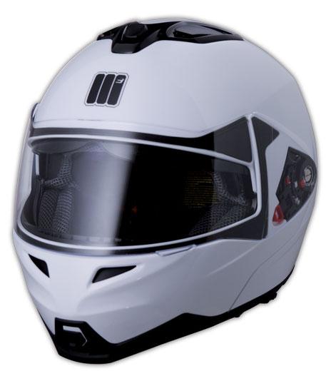 Humans Flip Cube flipp off helmet White