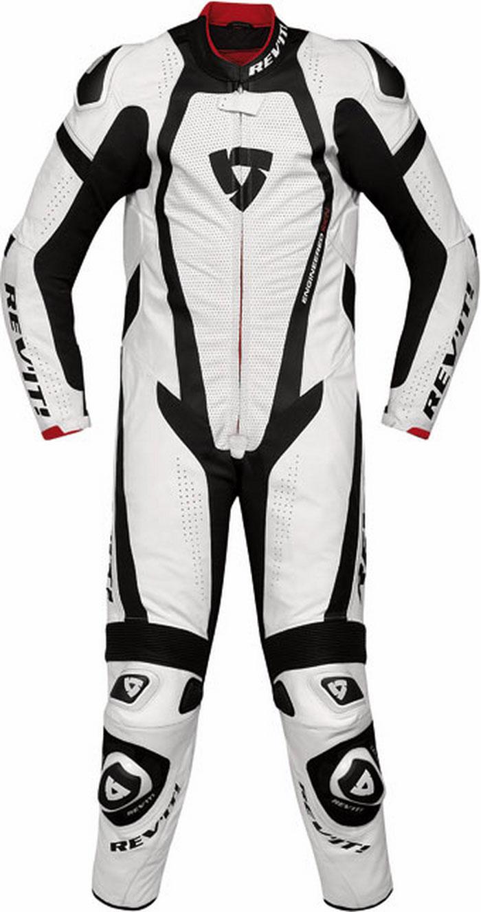 Rev'it Stingray leather racing suit white-black