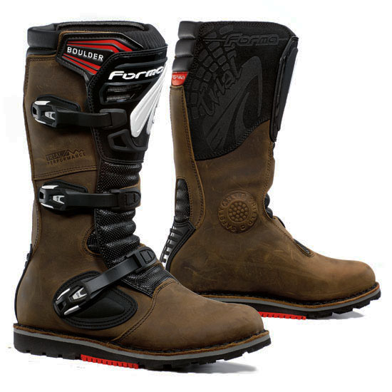 Trial Boots Brown Black Leather Forma Boulder