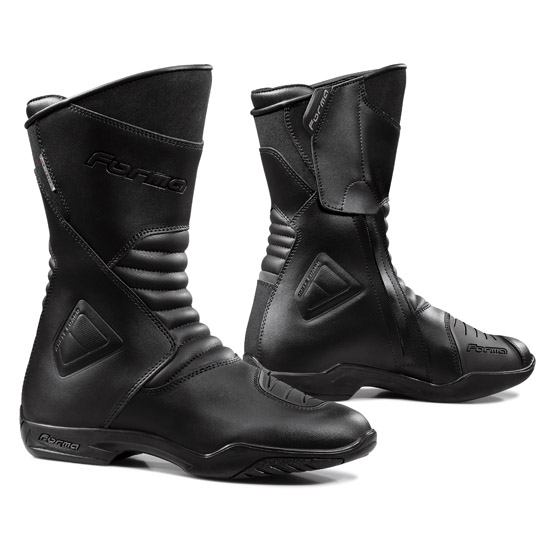 Form Majestic Black leather motorcycle boots