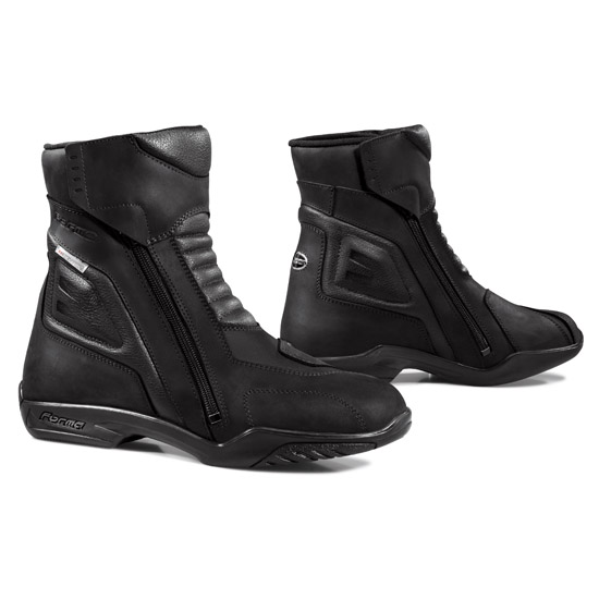Black Leather Motorcycle Boots Forma Latin