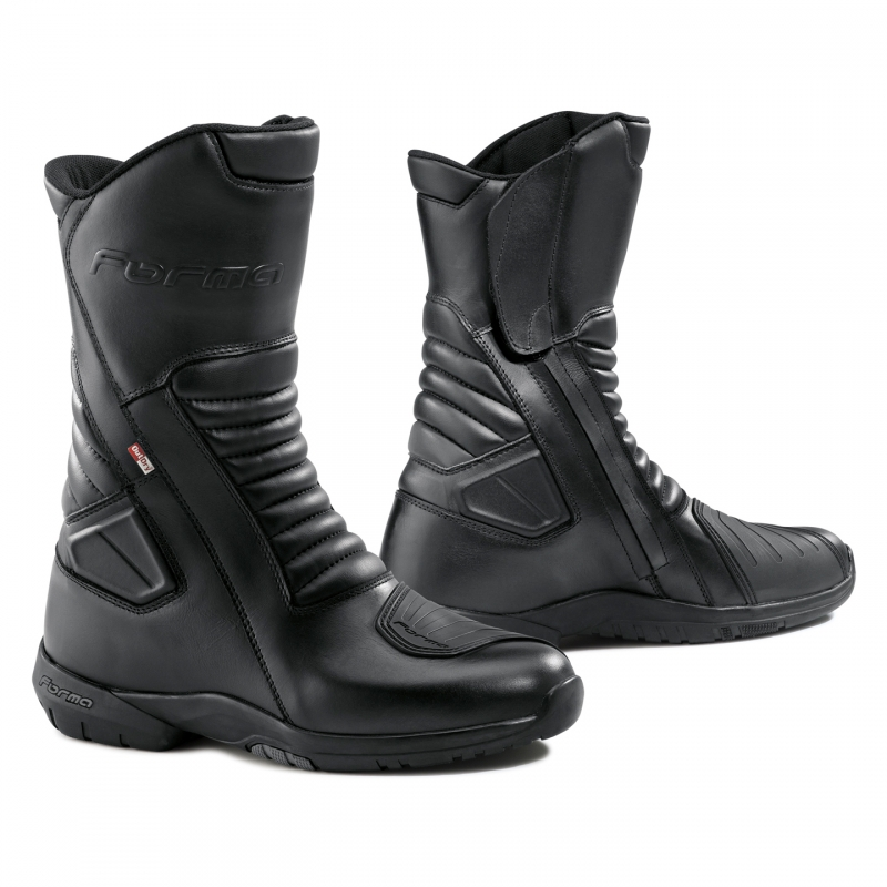 Leather motorcycle boots Forma Aspen Outdry Black