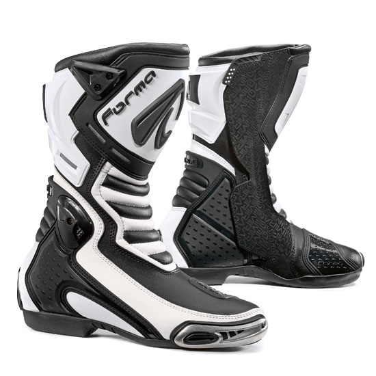 Forma White leather motorcycle boots Mirage